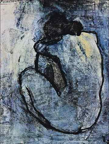 Picasso, 1902, Blue Nude
